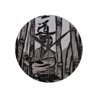 Bushido Moon  by Cartrer L. Shepard Wall Clocks