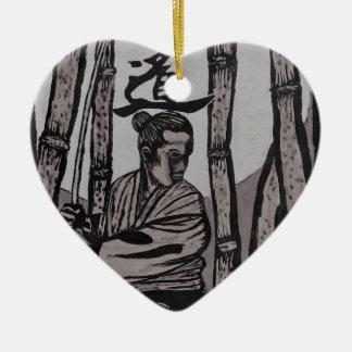 Bushido Moon light Ceramic Ornament
