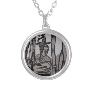 Bushido Moon light Silver Plated Necklace