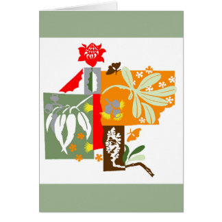 Bushland flora - Greeting card
