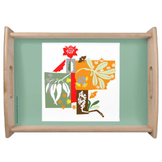 Bushland flora - Serving tray