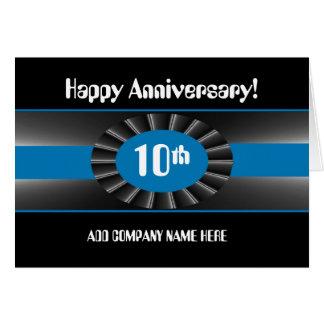 Business 10th Anniversary Congratulations - Ribbon Card