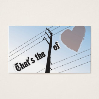"""Business, 3.5"""" x 2.0"""", 100 pack POWER OF LOVE SILO Business Card"""