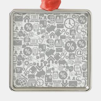 Business a background3 metal ornament