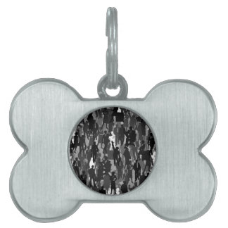 Business a background pet ID tag