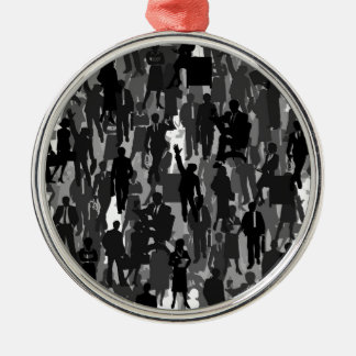 Business a background Silver-Colored round decoration