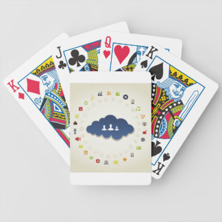 Business a cloud bicycle playing cards