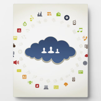 Business a cloud display plaque