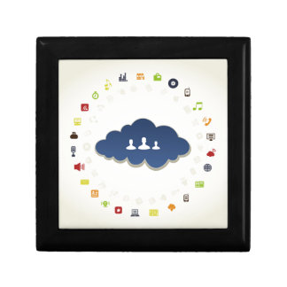 Business a cloud gift box