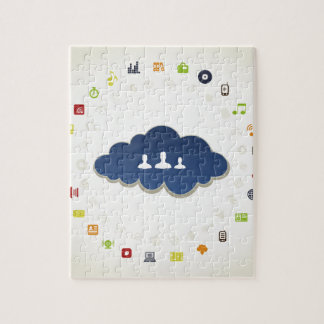 Business a cloud jigsaw puzzle