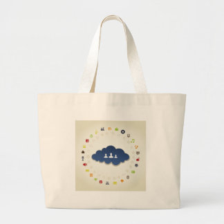 Business a cloud large tote bag