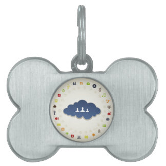 Business a cloud pet name tag