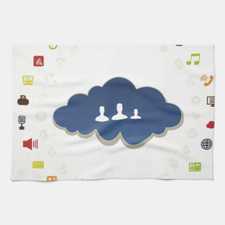 Business a cloud tea towel