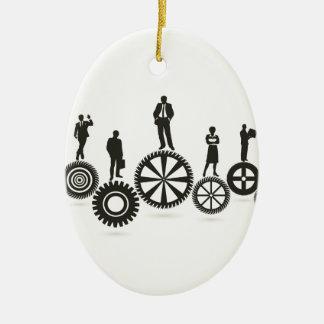 Business a gear wheel ceramic ornament