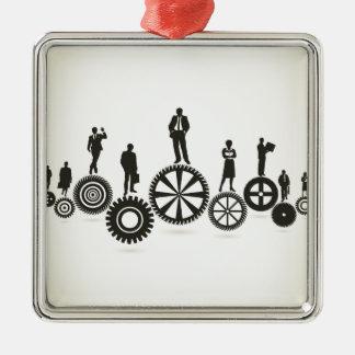 Business a gear wheel metal ornament
