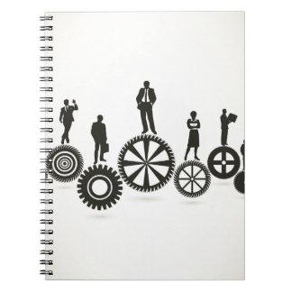 Business a gear wheel spiral notebook