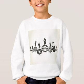 Business a gear wheel sweatshirt