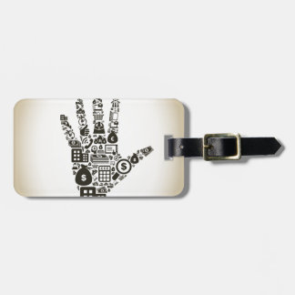 Business a hand2 luggage tag