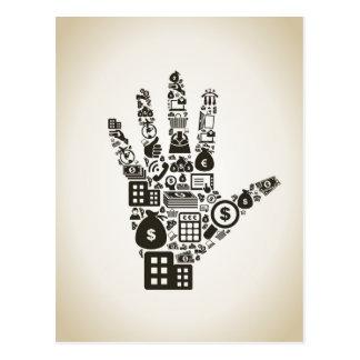 Business a hand2 postcard