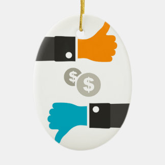 Business a hand ceramic ornament