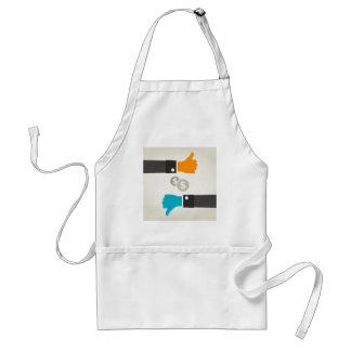 Business a hand standard apron