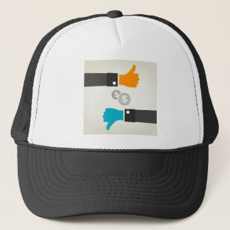 Business a hand trucker hat