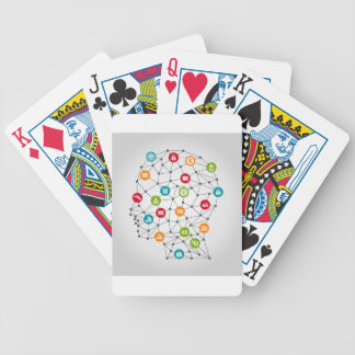 Business a head7 bicycle playing cards