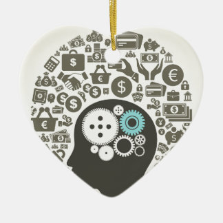 Business a head ceramic heart decoration