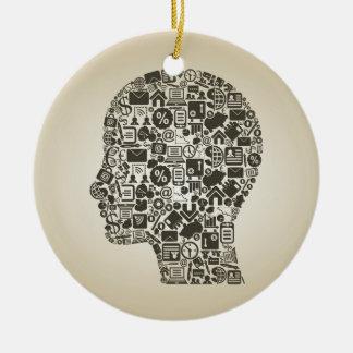 Business a head ceramic ornament