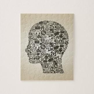 Business a head jigsaw puzzle