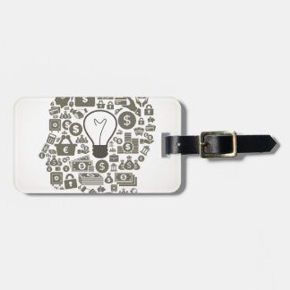 Business a head luggage tag