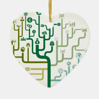 Business a labyrinth ceramic heart decoration