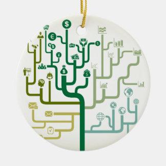 Business a labyrinth ceramic ornament