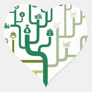 Business a labyrinth heart sticker