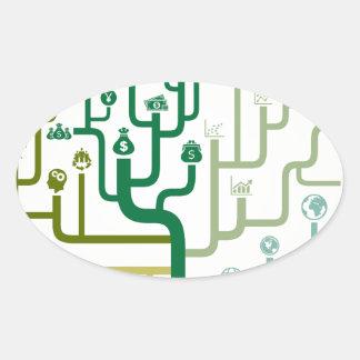 Business a labyrinth oval sticker