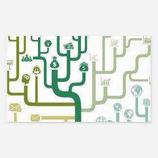 Business a labyrinth rectangular sticker
