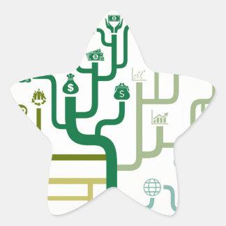 Business a labyrinth star sticker