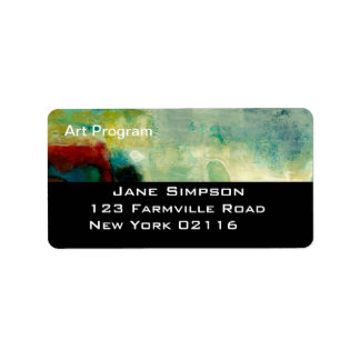 business abstract professional address labels