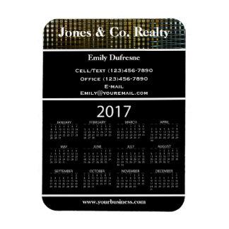 Business Advertising 2017 Calendar II Rectangular Photo Magnet