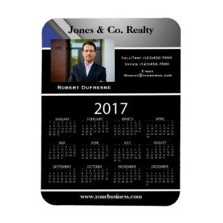 Business Advertising/Promotional 2017 Calendar Rectangular Photo Magnet
