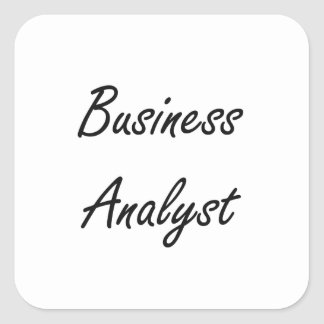 Business Analyst Artistic Job Design Square Sticker