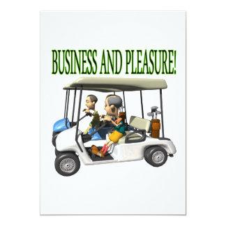 Business And Pleasure 13 Cm X 18 Cm Invitation Card