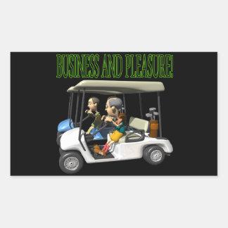 Business And Pleasure Rectangular Sticker