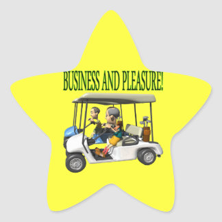 Business And Pleasure Star Sticker