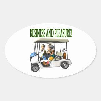 Business And Pleasure Sticker
