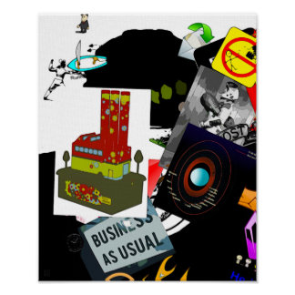 Business As Usual - Art On Canvas Print