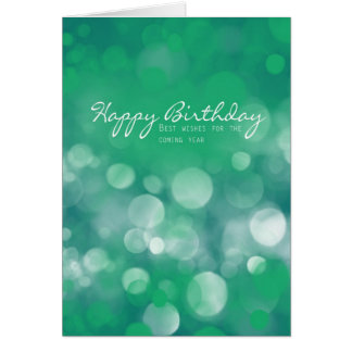 Business Birthday Card, Best Wishes Greeting Card