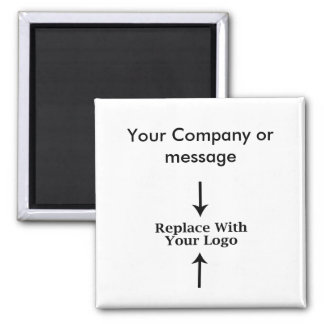 Business Blank Logo Template 2 Inch Square Magnet