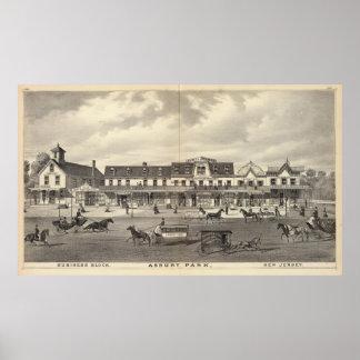 Business block, Asbury Park, New Jersey Print