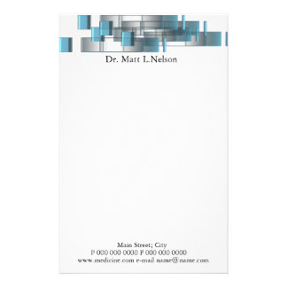 business_blue_doctor stationery